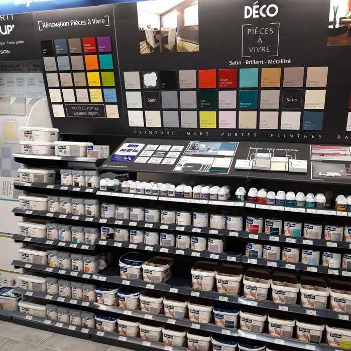 Un large choix de produits disponibles en magasin.